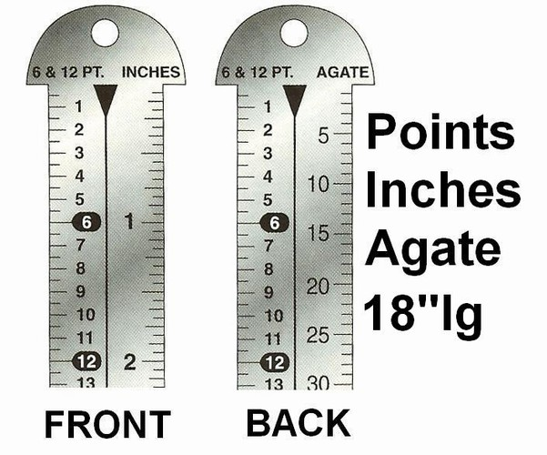 Pica rulers similar to what we used to measure when building a newspaper page and these rulers were also called line gauges by newspaper workers.